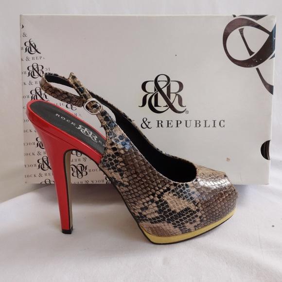 8bb696236591 Rock   Republic RR Cruz Snake stiletto heels
